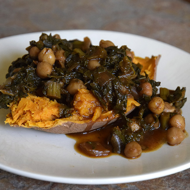 Barbecued Kale with Chickpeas — just $1.21 a serving