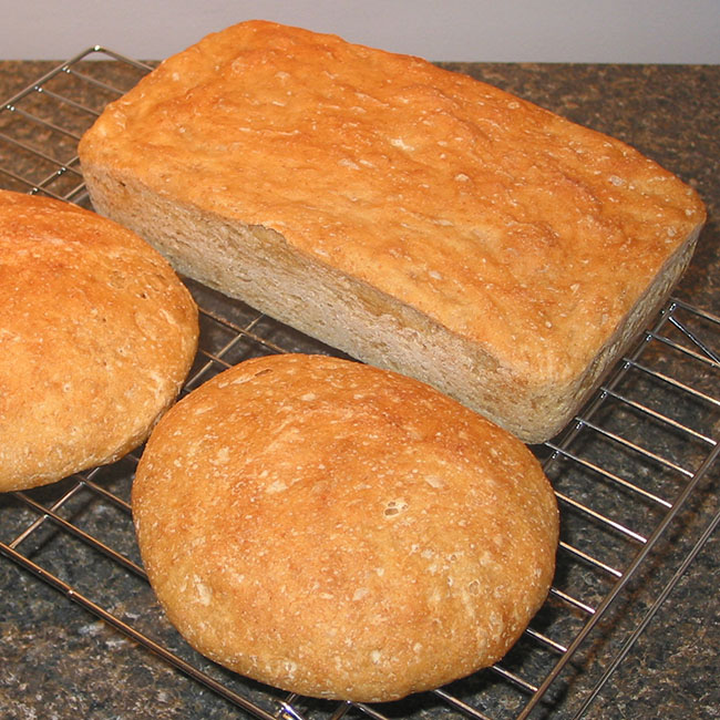 Easy no-knead bread recipe with videos