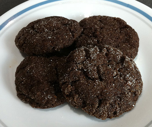 vegan Hot Italian Cocoa Cookies use olive oil instead of butter and ground flaxseed instead of eggs