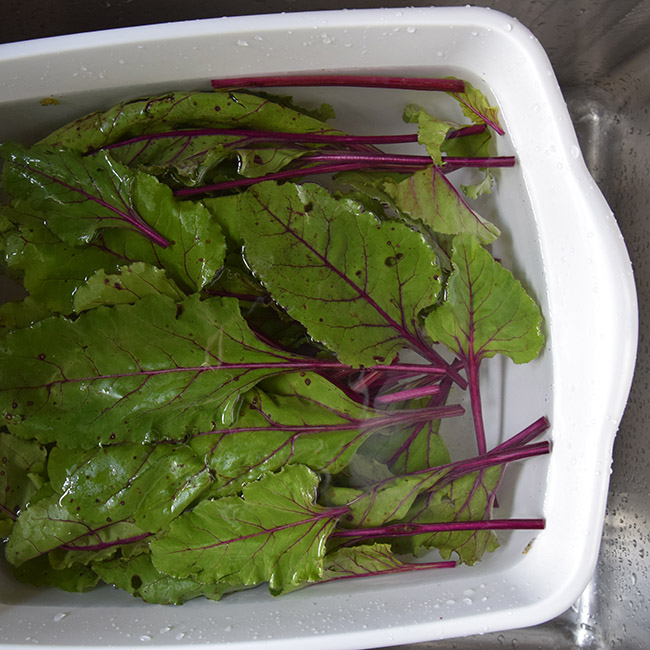 How to Wash Kale, Collards, Chard, and other Greens