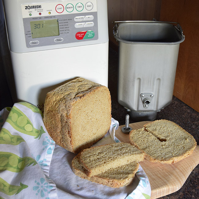 homemade bread with Zojirushi bread machine