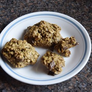 chocolate-chip oatmeal cookies on a plate