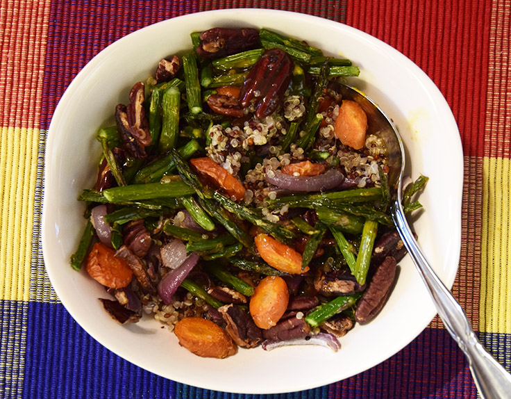 Roasted Asparagus and Carrots with Asian Orange Sauce