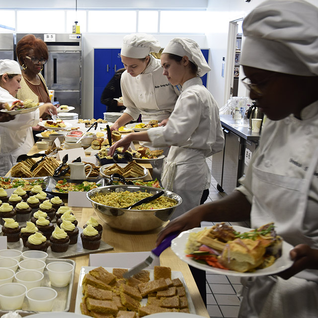 Culinary Arts students at Wake Tech try vegan, gluten-free buffet
