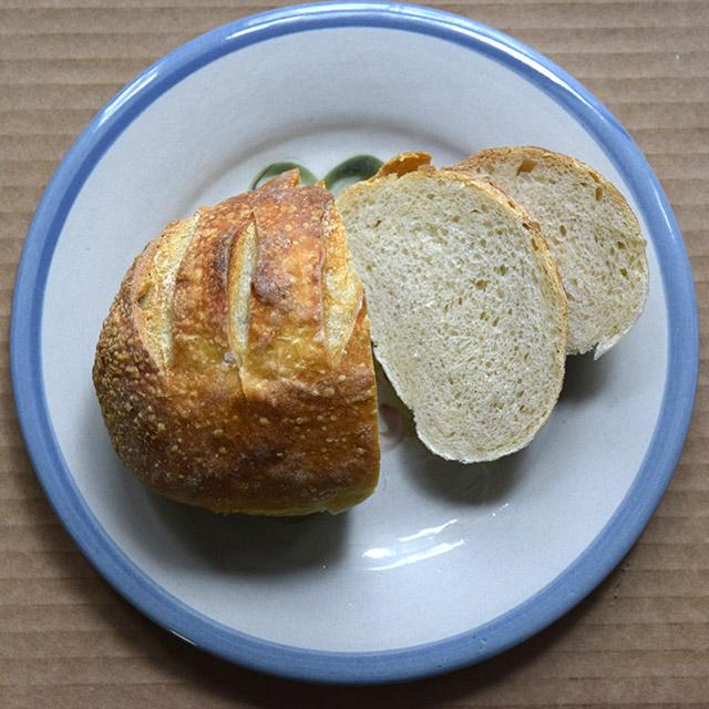 sourdough roll from Wake Tech Culinary Arts program