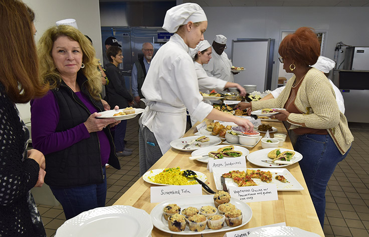 Guests and chefs enjoy vegan and gluten-free lunch at Wake Tech