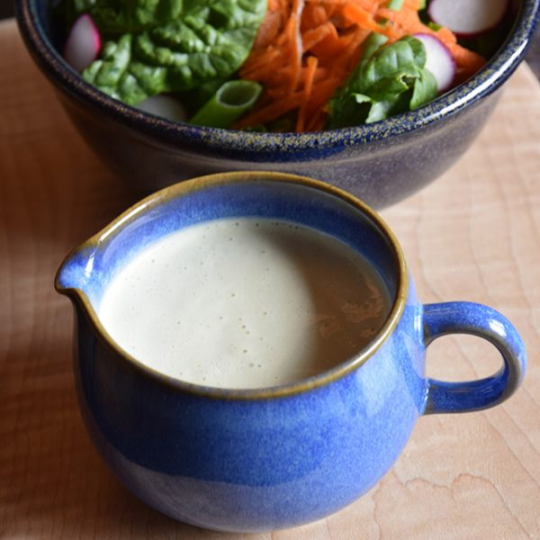 Creamy Cilantro Dressing with salad