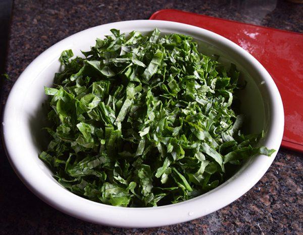 Kale salad before being massaged