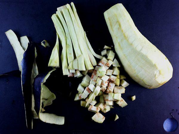 steps in cutting eggplant