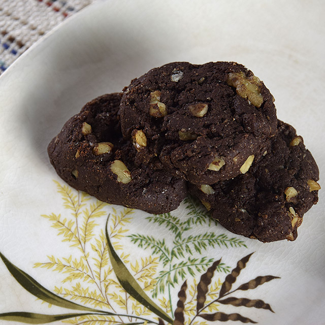 vegan chocolate walnut cookies