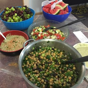 Greek Chickpea Salad on buffet at Love Wins