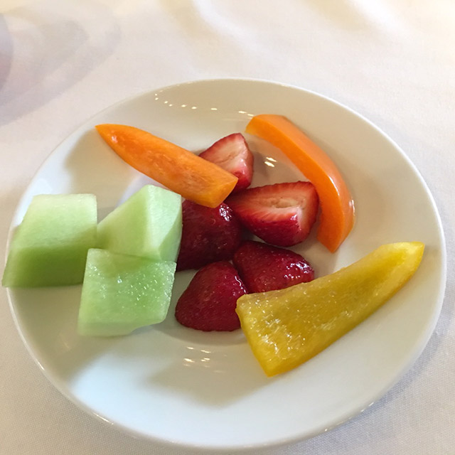 pitiful fruit plate at awards ceremony