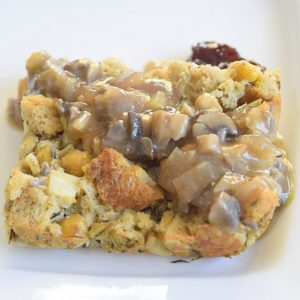 Thanksgiving stuffing with gravy