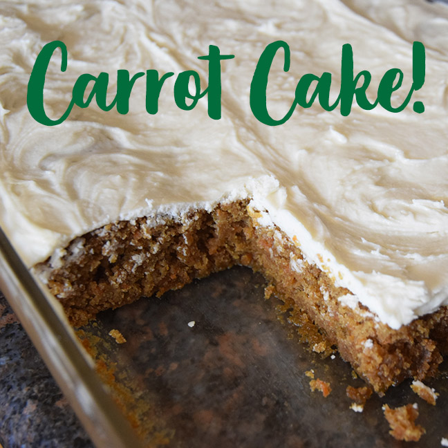 Carrot Cake with Tangy Frosting