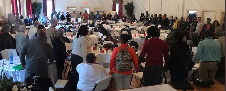 NC Environmental Justice Network Summit closing circle 2019